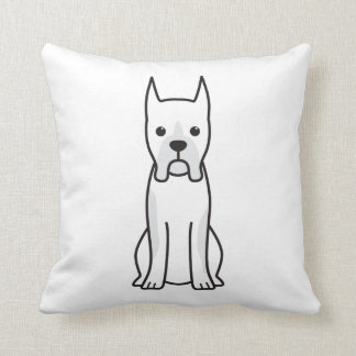 Boxer Dog Cartoon Cushions