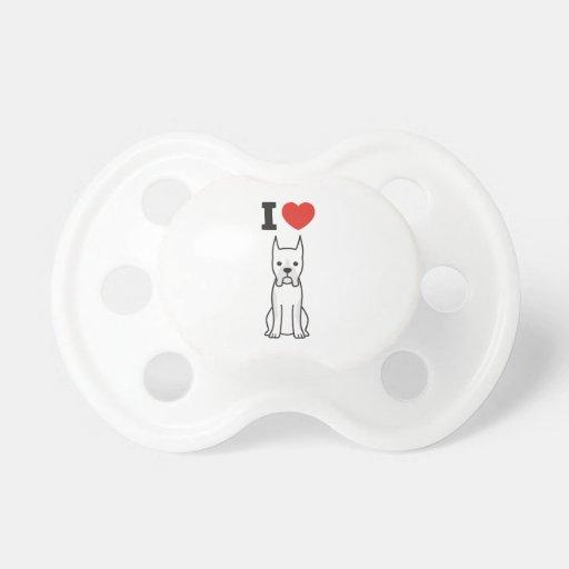 Boxer Dog Cartoon Baby Pacifier