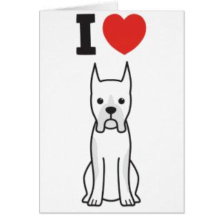Boxer Dog Cartoon Greeting Card
