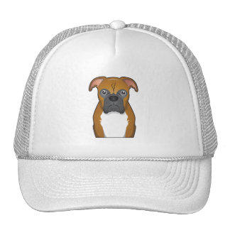 Boxer Dog Cartoon Trucker Hat