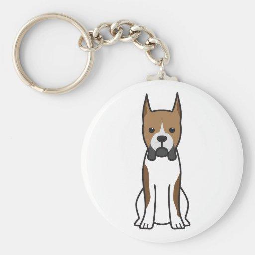 Boxer Dog Cartoon Keychains