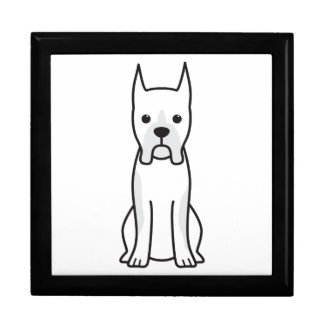 Boxer Dog Cartoon Large Square Gift Box
