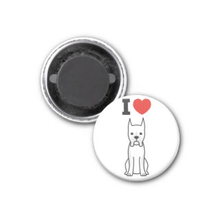 Boxer Dog Cartoon Fridge Magnets
