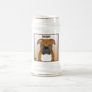 Boxer Dog Cartoon Coffee Mugs