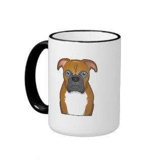 Boxer Dog Cartoon Mug