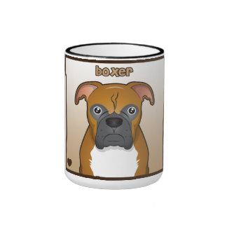 Boxer Dog Cartoon Mugs