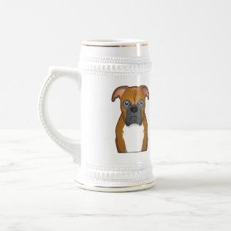 Boxer Dog Cartoon Coffee Mug