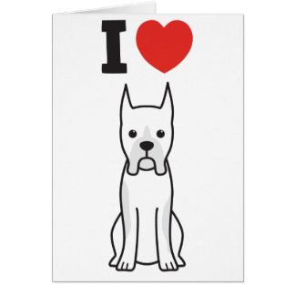 Boxer Dog Cartoon Note Card