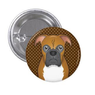 Boxer Dog Cartoon Paws Buttons