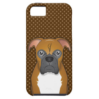Boxer Dog Cartoon Paws iPhone 5 Case