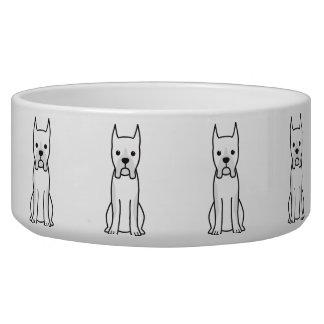 Boxer Dog Cartoon Pet Water Bowls