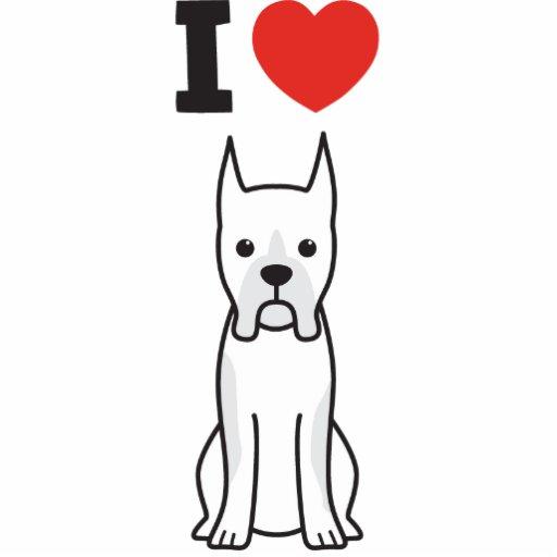Boxer Dog Cartoon Acrylic Cut Outs