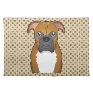 Boxer Dog Cartoon Placemats