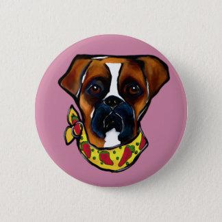 Boxer Dog Cinco de Mayo 6 Cm Round Badge