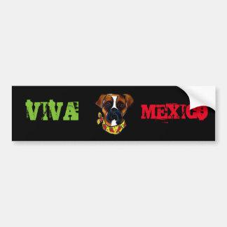 Boxer Dog Cinco de Mayo Bumper Sticker