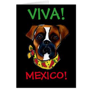 Boxer Dog Cinco de Mayo Card