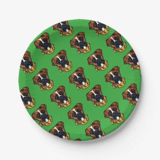 Boxer Dog Cinco de Mayo Paper Plate