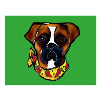 Boxer Dog Cinco de Mayo Postcard