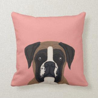 Boxer dog custom pet portrait pillow for dog owner