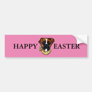 Boxer Dog Easter Bumper Sticker