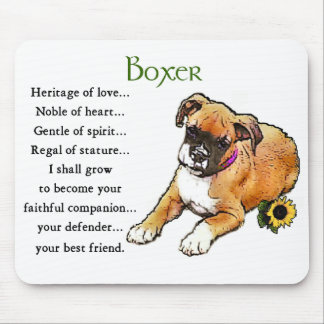 Boxer Dog Gifts Mouse Pad