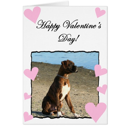 Boxer Dog  Happy Valentine's Day Greeting card