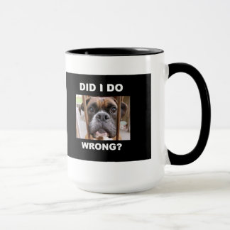 Boxer Dog In Trouble Mug