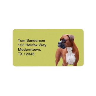 Boxer dog address label