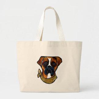 Boxer Dog Large Tote Bag