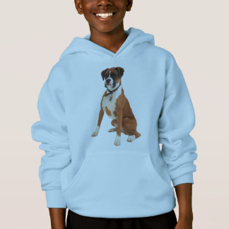 BOXER DOG Light Blue Childs Hoodie