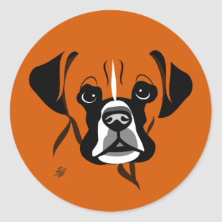 Boxer Dog Lover Stickers