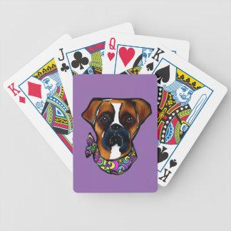 Boxer Dog Mardi Gras Bicycle Playing Cards