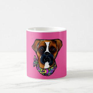 Boxer Dog Mardi Gras Coffee Mug