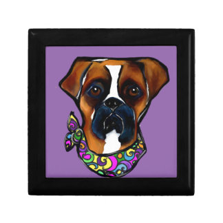 Boxer Dog Mardi Gras Gift Box