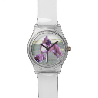 Boxer  dog May28th wristwatch