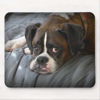boxer, dog mouse pad