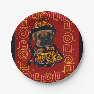 Boxer Dog of the Year Paper Plate