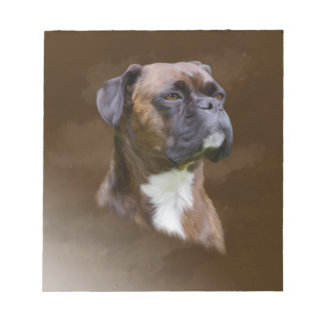 Boxer Dog Oil Painting Art Portrait Notepads