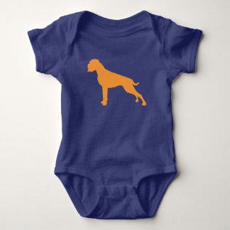 Boxer dog orange baby bodysuit