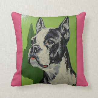 boxer dog paint by numbers vintage pillow