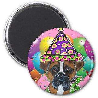 Boxer Dog Party Dog Magnet