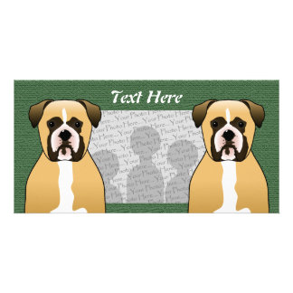 Boxer Dog Photo Card Template