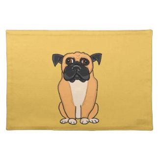 Boxer dog place mat