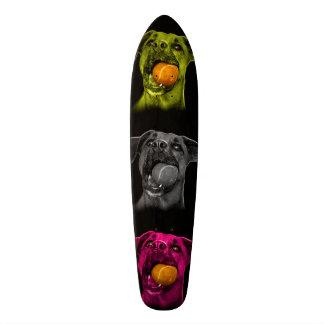 boxer dog pop art 8173 bb skateboard deck