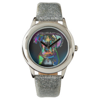 Boxer Dog Pop Art Style for Dog Lovers Watches