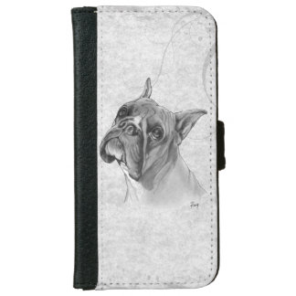 Boxer Dog Portrait iPhone 6 Wallet Case