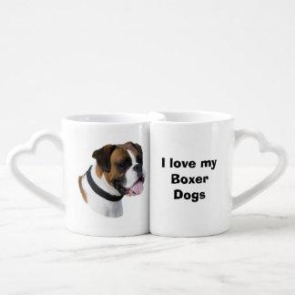 Boxer dog portrait photo lovers mug