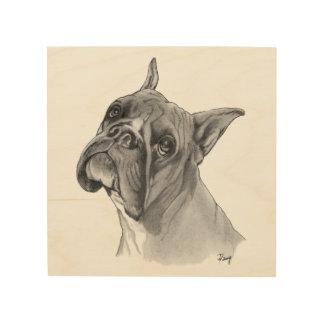 Boxer Dog Portrait Wood Wall Decor