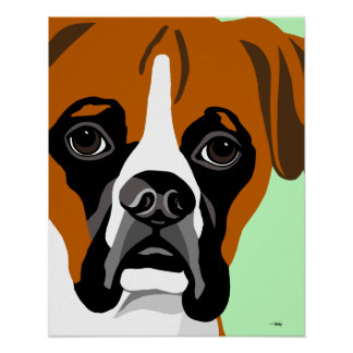 Boxer Dog Posters