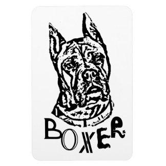 Boxer Dog Vinyl Magnet